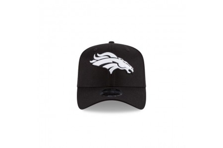 Black Friday Sale - DENVER BRONCOS BLACK AND WHITE STRETCH SNAP 9FIFTY SNAPBACK