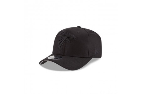 ATLANTA FALCONS BLACK ON BLACK STRETCH SNAP 9FIFTY SNAPBACK - Sale