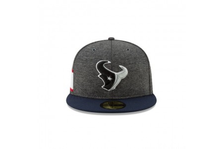 HOUSTON TEXANS GRAPHITE SIDELINE HOME 59FIFTY FITTED