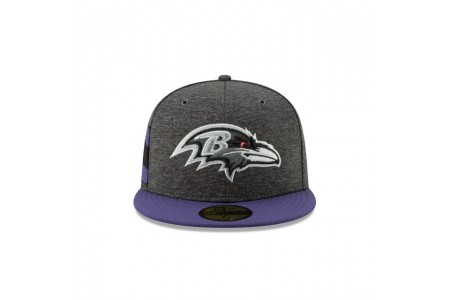 BALTIMORE RAVENS GRAPHITE SIDELINE HOME 59FIFTY FITTED - Sale