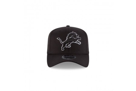 DETROIT LIONS BLACK AND WHITE 9FIFTY STRETCH SNAPBACK