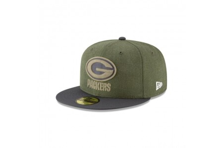 GREEN BAY PACKERS SALUTE TO SERVICE 59FIFTY FITTED
