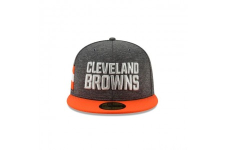 CLEVELAND BROWNS GRAPHITE SIDELINE HOME 59FIFTY FITTED - Sale