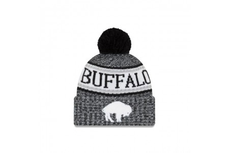 Black Friday Sale - BUFFALO BILLS BLACK AND WHITE COLD WEATHER SPORT KNIT