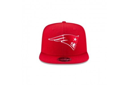 NEW ENGLAND PATRIOTS SCARLET HIGH CROWN 9FIFTY SNAPBACK - Sale