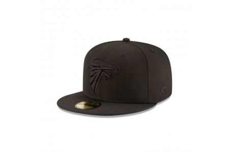 ATLANTA FALCONS BLACK ON BLACK 59FIFTY FITTED - Sale