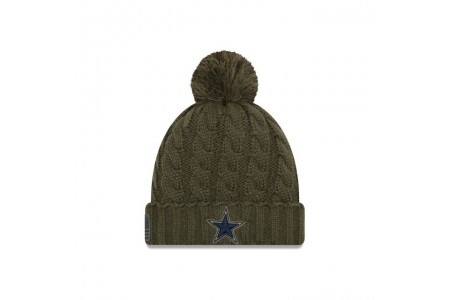 DALLAS COWBOYS SALUTE TO SERVICE WOMENS POM KNIT - Sale