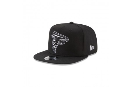 ATLANTA FALCONS BLACK AND WHITE HIGH CROWN 9FIFTY SNAPBACK - Sale