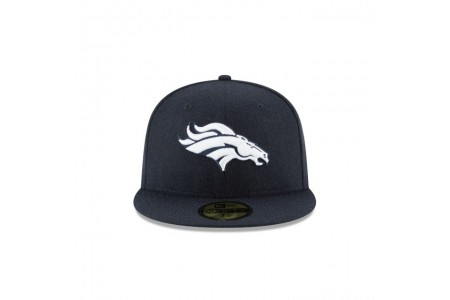 DENVER BRONCOS NAVY MELTON WOOL 59FIFTY FITTED
