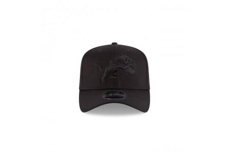 DETROIT LIONS BLACK ON BLACK STRETCH SNAP 9FIFTY SNAPBACK - Sale