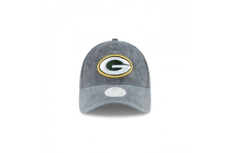 GREEN BAY PACKERS WOMENS FADED DENIM 9TWENTY ADJUSTABLE - Sale