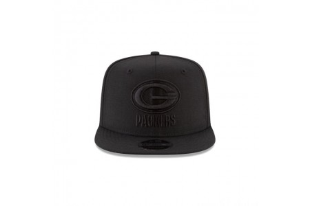 Black Friday Sale GREEN BAY PACKERS BLACK ON BLACK HIGH CROWN 9FIFTY SNAPBACK