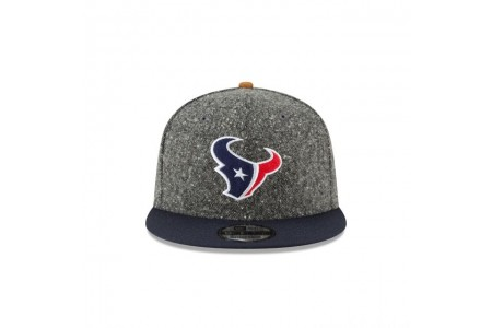 HOUSTON TEXANS SUEDE ON TWEED 9FIFTY STRAPBACK