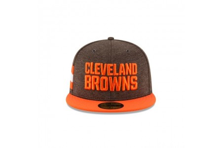 CLEVELAND BROWNS OFFICIAL SIDELINE HOME KIDS 59FIFTY FITTED