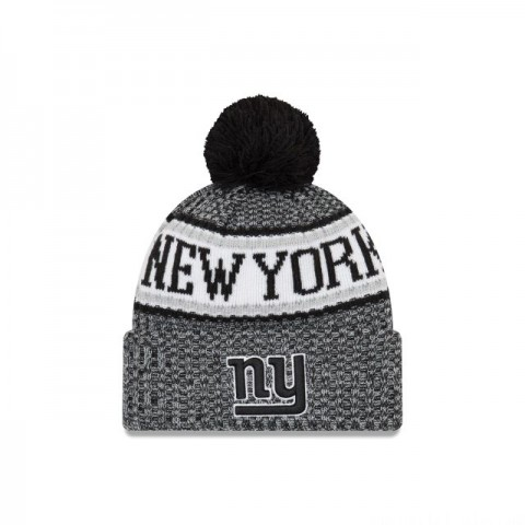NEW YORK GIANTS BLACK AND WHITE COLD WEATHER SPORT KNIT