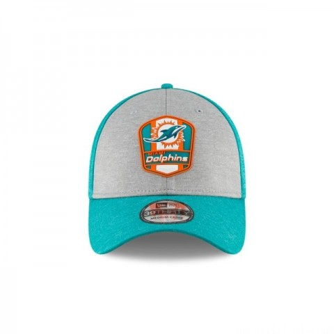 MIAMI DOLPHINS OFFICIAL SIDELINE ROAD KIDS 39THIRTY STRETCH FIT - Sale