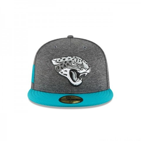 JACKSONVILLE JAGUARS GRAPHITE SIDELINE HOME 59FIFTY FITTED