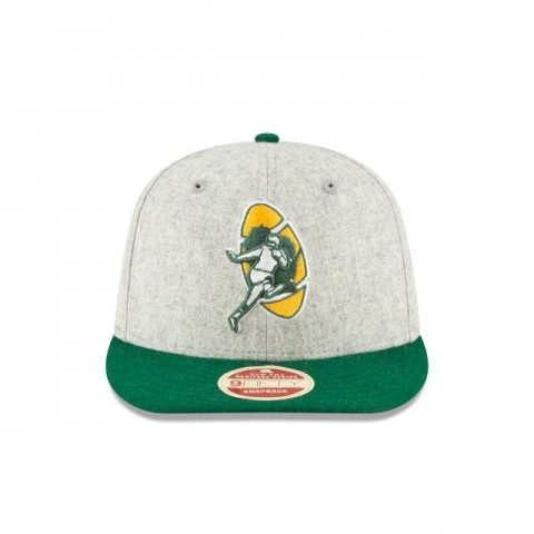 GREEN BAY PACKERS MELTON WOOL THROWBACK 9FIFTY SNAPBACK - Sale