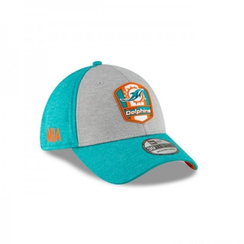MIAMI DOLPHINS OFFICIAL SIDELINE ROAD 39THIRTY STRETCH FIT - Sale