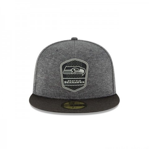 SEATTLE SEAHAWKS NFL SIDELINE ROAD 59FIFTY FITTED