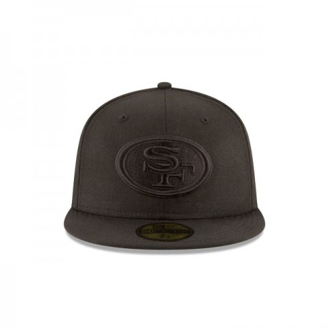 SAN FRANCISCO 49ERS BLACK ON BLACK 59FIFTY FITTED