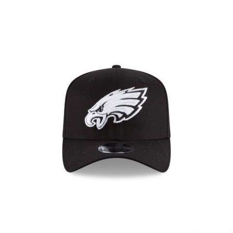 PHILADELPHIA EAGLES  BLACK AND WHITE 9FIFTY STRETCH  SNAPBACK - Sale