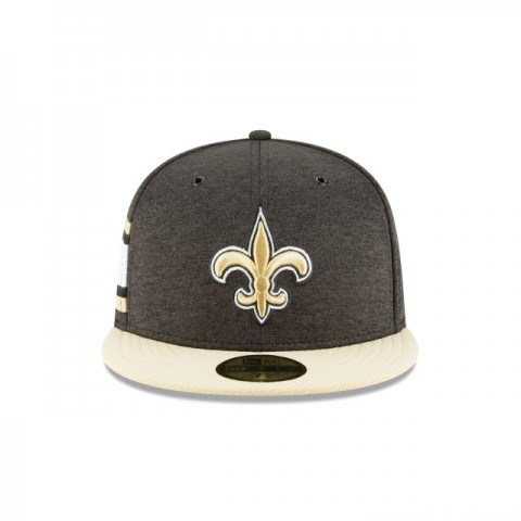 NEW ORLEANS SAINTS OFFICIAL SIDELINE HOME 59FIFTY FITTED