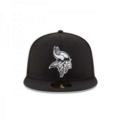 MINNESOTA VIKINGS BLACK & WHITE 59FIFTY FITTED - Sale