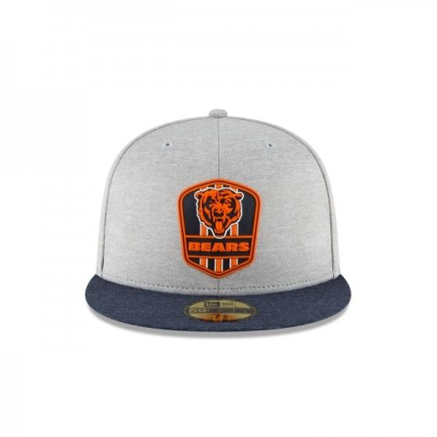 Wall Stickz Auto Parts Gray NFL Baseball Hat with Team Logo Unisex Fashion Baseball Cap (Chicago Bears)