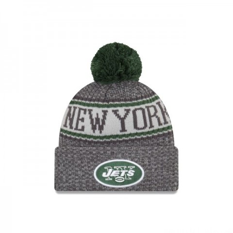 NEW YORK JETS GRAPHITE COLD WEATHER SPORT KNIT