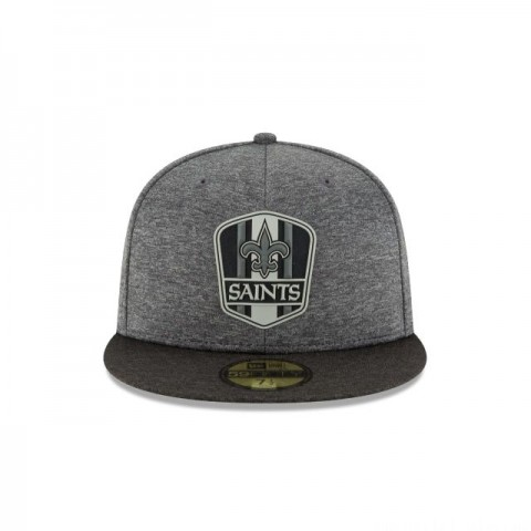 NEW ORLEANS SAINTS NFL SIDELINE ROAD 59FIFTY FITTED