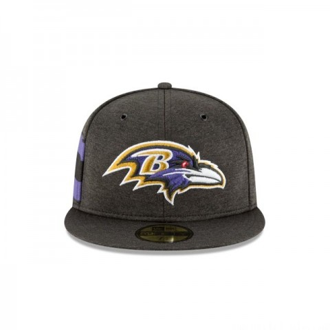 BALTIMORE RAVENS OFFICIAL SIDELINE HOME KIDS 59FIFTY FITTED