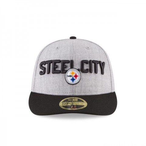 PITTSBURGH STEELERS NFL DRAFT ON STAGE LOW PROFILE 59FIFTY FITTED - Sale