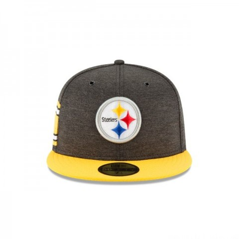 PITTSBURGH STEELERS OFFICIAL SIDELINE HOME 59FIFTY FITTED - Sale