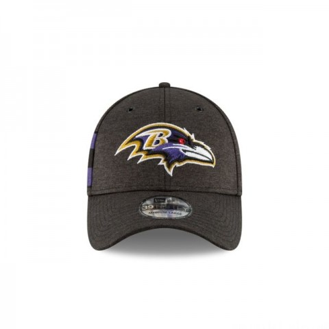BALTIMORE RAVENS OFFICIAL SIDELINE HOME KIDS 39THIRTY STRETCH FIT