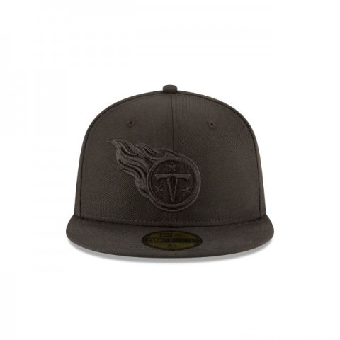 TENNESSEE TITANS BLACK ON BLACK 59FIFTY FITTED
