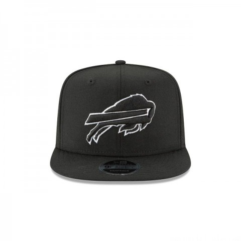 BUFFALO BILLS BLACK AND WHITE HIGH CROWN 9FIFTY SNAPBACK - Sale