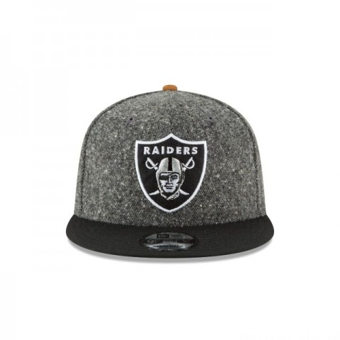 OAKLAND RAIDERS SUEDE ON TWEED 9FIFTY STRAPBACK