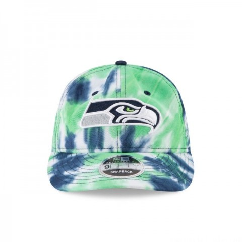 SEATTLE SEAHAWKS MARBLED RETRO CROWN 9FIFTY SNAPBACK