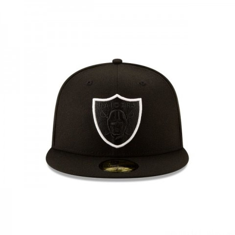 OAKLAND RAIDERS NFL LOGO ELEMENTS 59FIFTY FITTED - Sale