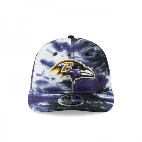 BALTIMORE RAVENS MARBLED RETRO CROWN 9FIFTY SNAPBACK