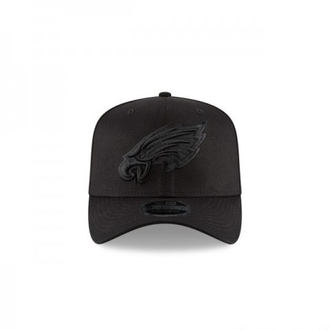 PHILADELPHIA EAGLES BLACK ON BLACK STRETCH SNAP 9FIFTY SNAPBACK - Sale