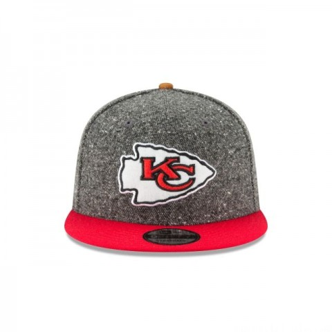 KANSAS CITY CHIEFS SUEDE ON TWEED 9FIFTY STRAPBACK