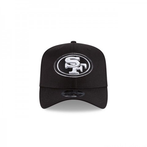 SAN FRANCISCO 49ERS BLACK AND WHITE 9FIFTY SNAPBACK