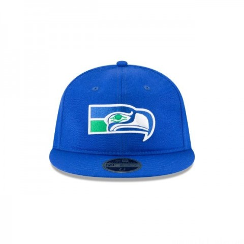 SEATTLE SEAHAWKS WOOL RETRO CROWN 59FIFTY FITTED