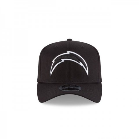 LOS ANGELES CHARGERS BLACK AND WHITE STRETCH SNAP 9FIFTY SNAPBACK - Sale