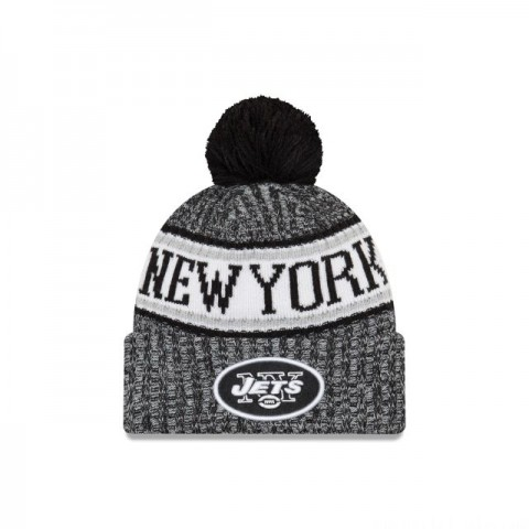 NEW YORK JETS BLACK AND WHITE COLD WEATHER SPORT KNIT