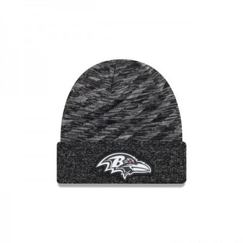 BALTIMORE RAVENS BLACK COLD WEATHER TOUCHDOWN KNIT - Sale