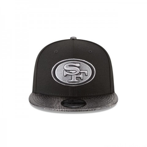 SAN FRANCISCO 49ERS SNAKESKIN BLACK 9FIFTY SNAPBACK
