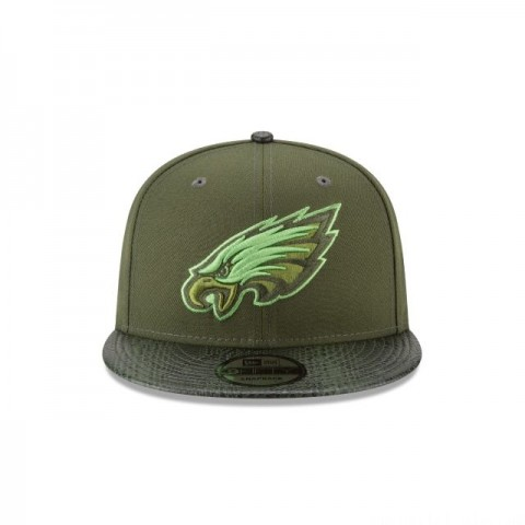 PHILADELPHIA EAGLES SNAKESKIN GREEN 9FIFTY SNAPBACK - Sale
